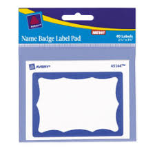 Avery Labels Name Badge Label Pad