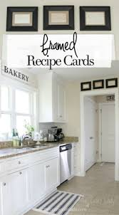 framed recipe cards diy projects for the home framed with regard to 36 best kitchen wall decor ideas