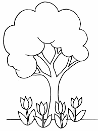 Small Picture Plants Coloring Pages Trees And Flowers All Page For Kidsjpg