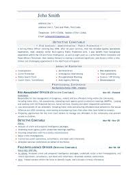 Military Police Resume Examples Examples Of Resumes
