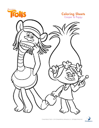 Trolls Coloring Pages And Printable Activity Sheets Trolls B Day