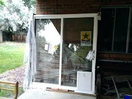 modern pet door sliding glass dog install ready patio with installed doors installation