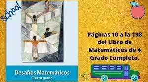 Desafíos matemáticos libro para el alumno nivel: Matematicas 4 Grado Todo El Libro Contestado Youtube