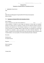 Standard Letter 30 Amazing Letter Of Interest Samples Templates