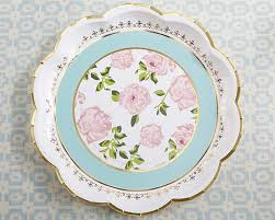Pink Flower Paper Plates Tea Party Paper Plates Teatime Party Supplies