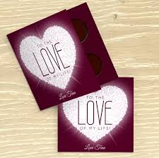 love of my life personalised chocolate card