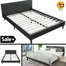 modern queen size bed frame details about modern queen size bed frame platform headboard contemporary bedroom
