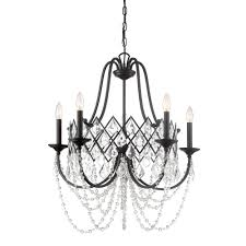 designers fountain ravina 5 light vintage bronze chandelier with faceted crystal accents shade