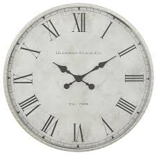 gray black silver metal oversized wall clock with roman numerals