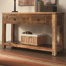 Rustic Console Table w/ Drawers