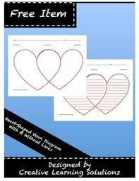 Venn Diagram Copy Valentine Heart Shaped Venn Diagram In Color Full Page Graphic