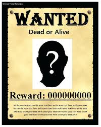 Wanted Poster Template Download Inside Blank Sample Jeopardy ...