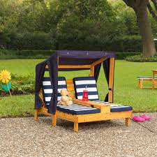 Kidkraft Double Chaise Lounger Honey and Navy