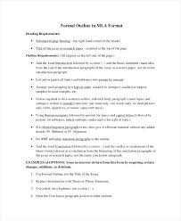 Essay Form Example Essay Outline Sample Template Answers