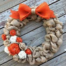 thanksgiving burlap wreath