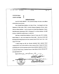 Affidavit of Legality of Peyote to Oklevueha Native American Church