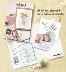 Sample Baby Announcement Tryspree Minted Com Free Birth Announcement Sample Kit And Lookbook
