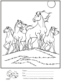 Cool Wild Horse Coloring Pages Arabian Page Google Search Kids Crafts