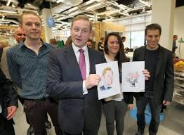 facebook office in dublin. taoiseach enda kenny at the airbnb offices in dublin last april facebook office