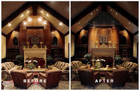 fireplace lighting. fireplace lighting in family room t