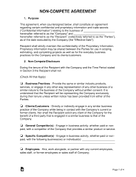 Noncompete Clause Non Compete Agreement Templates Eforms Free Fillable Forms
