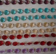 50meters mixed colors garland diamond strand glass crystal bead wedding party decor crystal garland