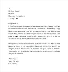 Cover Letters For Admin Assistant Letter Administrative Template Uk