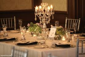 elegant wedding centerpiece with tall crystal candelabra 14 inspiring ideas of wedding centerpieces without flowers