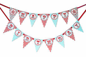 Banner Birthday Circus Carnival Happy Birthday Banner Pennant Poppartiesink Com