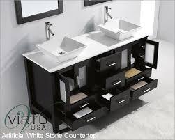 double sink bathroom vanity cabinets white. virtu usa 60\ double sink bathroom vanity cabinets white