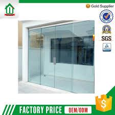 frameless interior sliding glass door