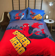 newest 100 cotton cartoon boys bedding set marvel spider man queen california king duvet cover bedspread bed linens sets nz 2019 from lead01