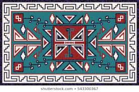 Traditional navajo rugs Eye Dazzler Colorful Mosaic Navajo Rug With Traditional Folk Geometric Pattern Navajo Rug Native American Indian Blanket Written In Stoneseen Through My Lens 500 Navajo Rugs Pictures Royalty Free Images Stock Photos And