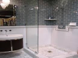 gray subway tile shower pictures