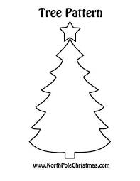 Free Christmas Tree Template Free Christmas Pattern Printables For More Christmas Patterns