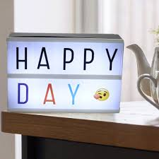 diy a5 cinematic light box letters cinema led letter lamp wedding party home decor