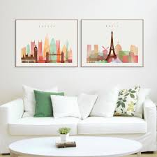 Paris Living Room Decor Online Buy Wholesale Paris Wall Art From China Paris Wall Art