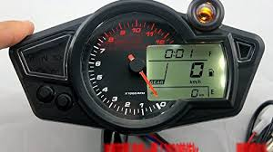 tachometer golf cart store kmh mph lcd digital odometer speedometer 12000 rmp tachometer motorcycle motor 1 5 n gear indicator for honda yamaha motorcycle dirt bike scooter