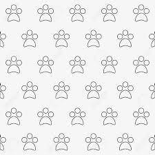 Paw Print Pattern Unique Inspiration Ideas