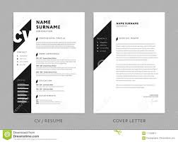 Graphic Designer Cover Letter 2017 Minimalist Cv Resume And Cover Letter Black And White