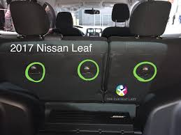the leaf s relatively flat back seat and flexible buckles may allow for 2 car seats to be installed side by side assuming they are narrower car seats