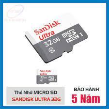 Thẻ nhớ Micro-SD 32Gb Sandisk Ultra Class 10 - Thẻ nhớ máy ảnh Nhãn hàng  SanDisk