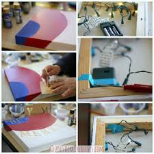 DIY Crafts Project Christmas Crafts Steps for Creating LED Canvas