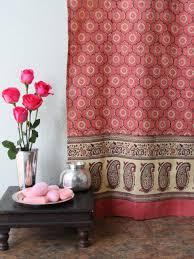 india rose luxury pink fl indian sari print shower curtain