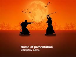Samurai Powerpoint Template Backgrounds 03517 Poweredtemplate Com