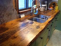 Wooden Kitchen Countertops Countertops Enchanting Ideas Rustic Reclaimed Wood Kitchen Island