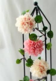 Paper Crafted Flowers Each Garland Is Made Up Of 5 Hand Painted And Crafted Crepe Paper