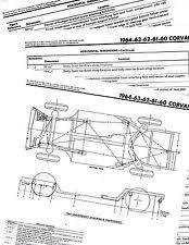 corvair diagram 1960 1961 1962 1963 1964 corvair frame diagram chart dimensions 6064bkm 2