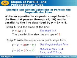 writing linear equations parallel and perpendicular lines jennarocca