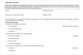 My Birth Plan Template Best Visual Birth Plan Template Download A Version This Printable